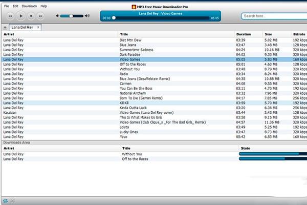 aplicacion para descargar musica para PC
