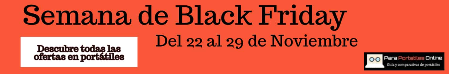 ordenadores portatiles black friday 2019