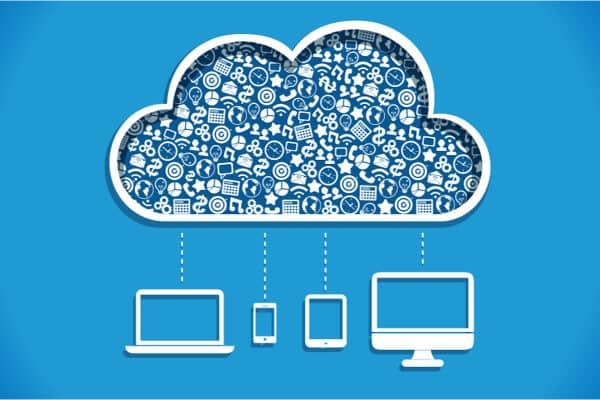 diferentes dispositivos que suben a la nube