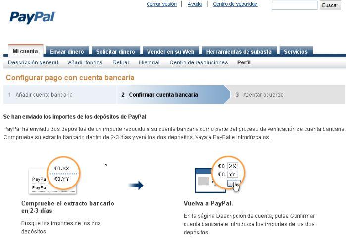 Verificar cuenta de Paypal