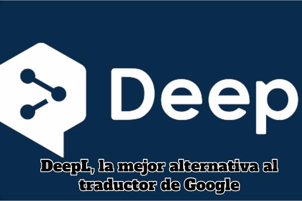logotipo de un traductor online llamado deepl