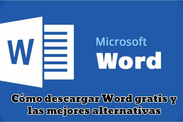 logotipo Word en fondo azul