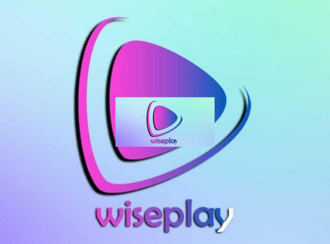logotipo en fondo azul de listas de wiseplay