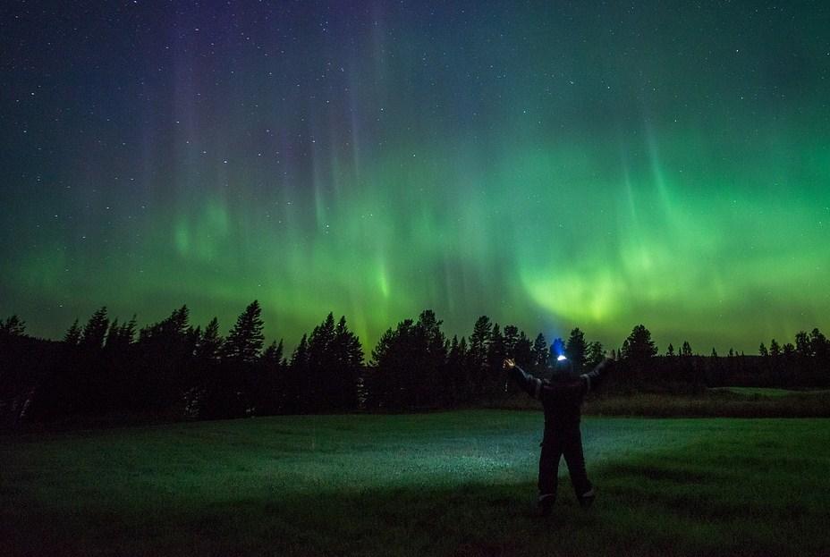Luces del norte o aurora boreal