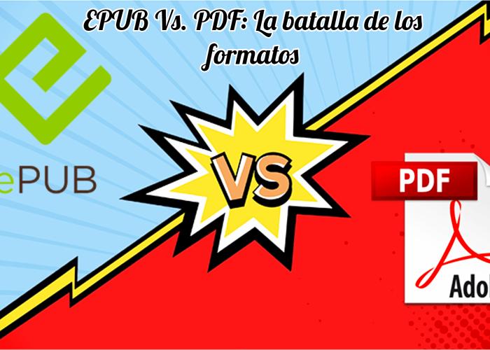imagen colorida donde aparece el nombre de dos formatos como epub y pdf